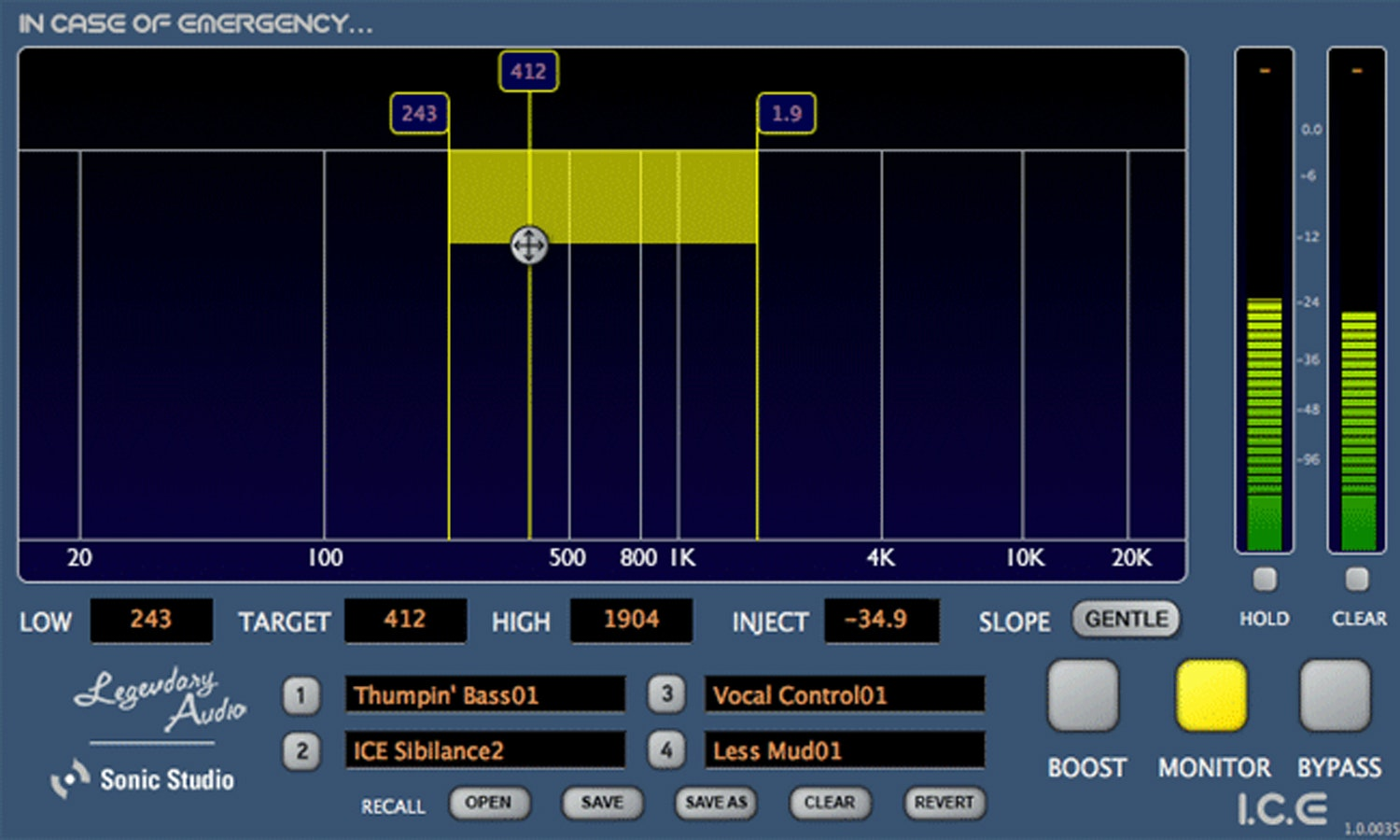 Legendary Audio I.C.E. Plugin