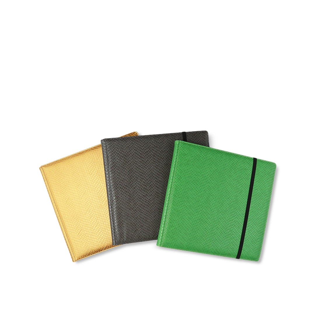 9 Pocket Dragon Hide Green Binder
