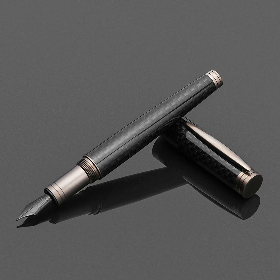 Levenger Aero-D Carbon Fountain Pen