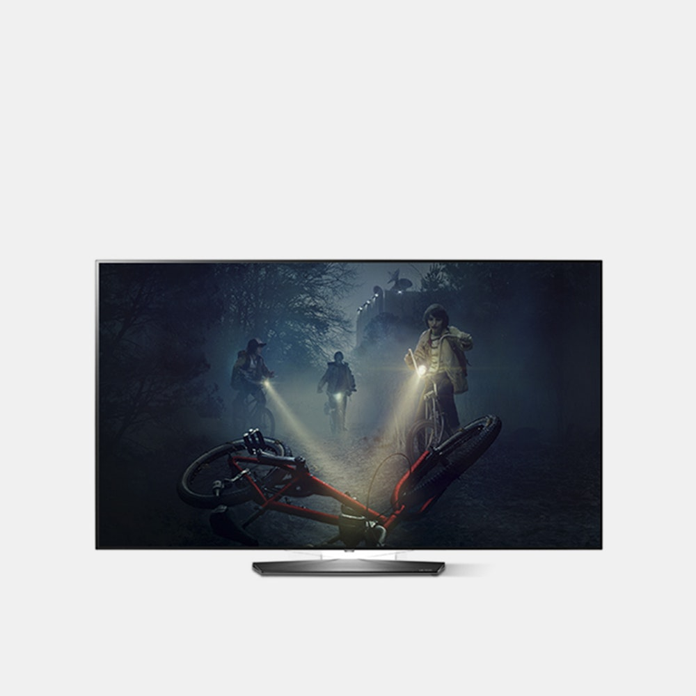 LG 55|65-Inch B7A OLED 4K HDR Smart TV The Next Generation of TVs -- A slim Smart TV with all the bells and whistles you'd expect from LG, this 55-incher is sure to be the focal point in any living room. With LG's Perfect Black technology, dark tones and colors are as dark as they can be, which makes the vibrant colors really pop off the screen. And with a 4K resolution, this TV will certainly make your content stand out. Thanks to Active HDR Dolby Vision you get a cinematic experience--in picture quality and audio quality--in the comfort of your own home. It's all connected across LG's innovative webOS 3.5, bringing together some of the most popular streaming video apps--like Netflix and Amazon Video--and internet browsing capability. It allows you to get free IP channels like Sports Illustrated, TIME, and People to help you discover new content or enjoy some of your favorites.