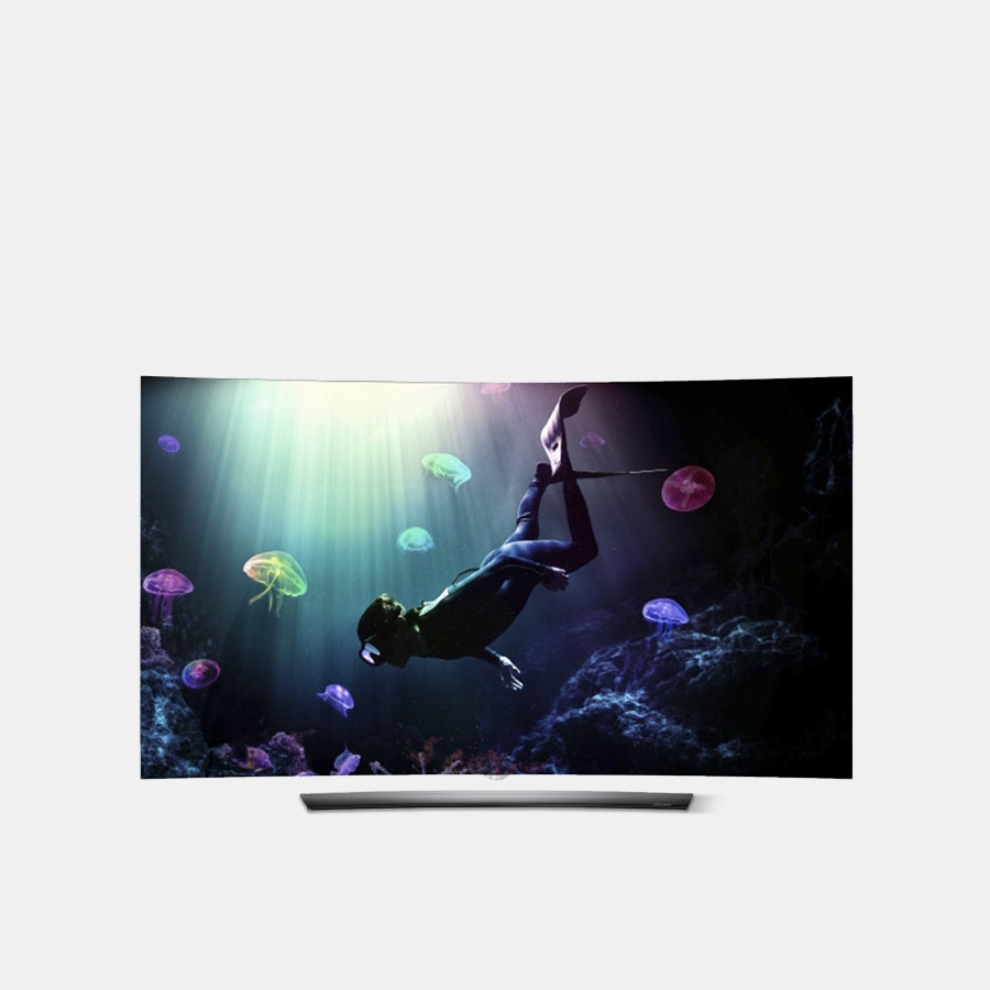 LG 55-Inch C6 Curved OLED 4K HDR Smart TV