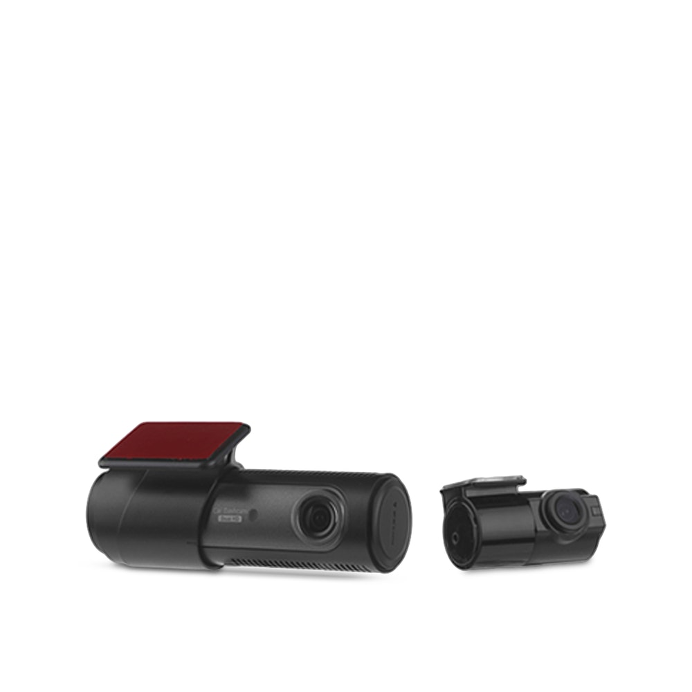 LG Innotek LGD323 2-Channel Dash Camera Front & Rear HD Footage -- An entry-level dash cam that can cover your front and rear, the LG Innotek LGD323 offers HD footage at 30 frames per second. Equipped with a built-in G-sensor, it will automatically record 10 seconds before motion or impact is detected in parking mode, so you can capture the full story (when you hardwire the dash cam). You can also use loop recording to continuously record and rewrite footage on the memory card. Speaking of memory, the LGD323 supports memory cards up to 128GB--not to mention it allows you to adjust settings to tweak how much card space is dedicated to each recording type. Add the optional hardwiring kit to take advantage of low-voltage cutoff and other special features.