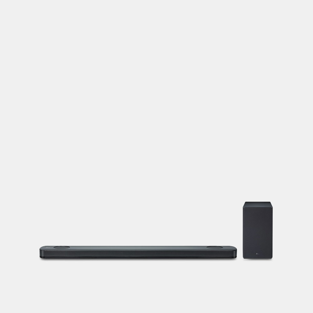 LG SK9Y 5.1.2-Ch  Dolby Atmos Soundbar Hi-Fi Audio in a Sleek Wireless Package -- Designed to connect to your TV, phone, and other Bluetooth devices, the LG SK9Y 5.1-channel wireless soundbar creates an immersive home audio experience. It relies on Dolby Atmos technology to produce a 360-degree moving sound, as well as a Hi-Res audio chip that processes higher sampling rates and bit depth to produce more accurate sounds. With Google Assistant and Chromecast built in, you can stream music, find answers on Google Search, manage your calendar, and control other smart devices using your voice. The 4K passthrough helps the soundbar deliver your content with no loss of 4K image quality. Plus, the soundbar now comes with Wireless Surround Ready technology, which means you can add SPK8-S wireless surround speakers to create a theater-like sound in any size room.