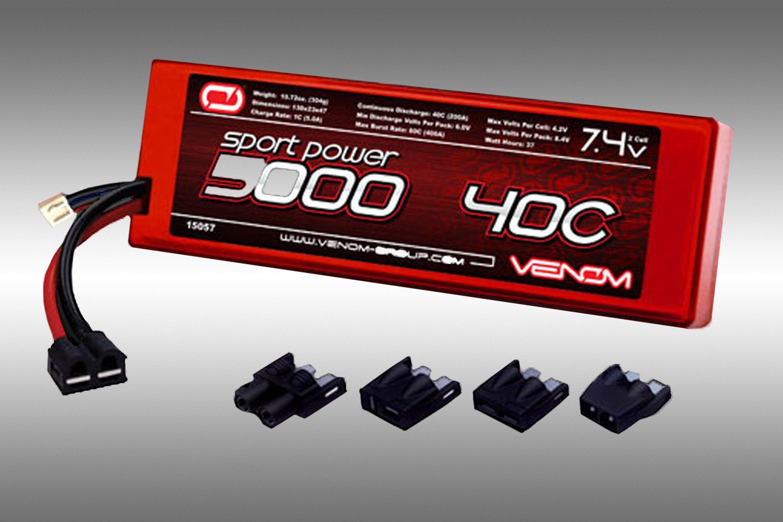 2S 7.4v 5000mah 40C Venom Lipo