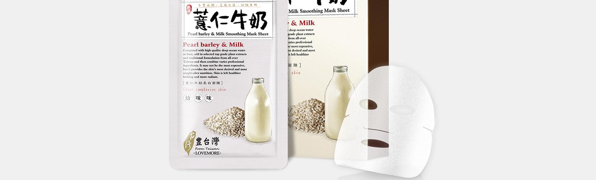 Lovemore Pearl Barley & Milk Smoothing Masks (5pcs)