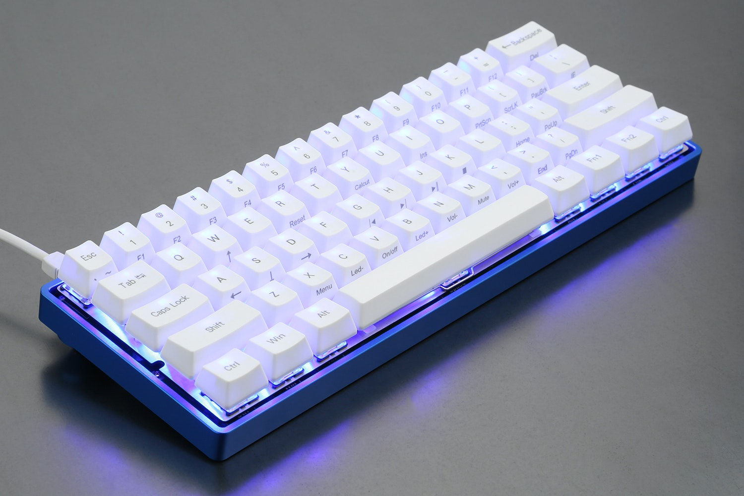 60% Keyboard Low-Profile Aluminum Case