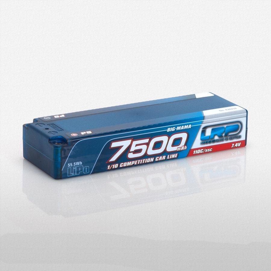 LRP 7.4v 7500mah 110C/55C Competition LiPo & Bag