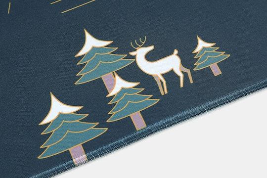 Lugoo Deer in the Woods Desk Mat