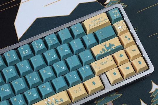 Lugoo Deer in Woods PBT Dye-Subbed Keycap Set