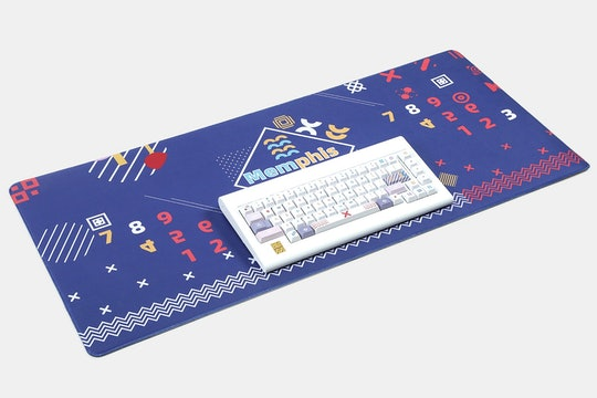 LUGOO Dye-Subbed PBT Memphis Keycap Set