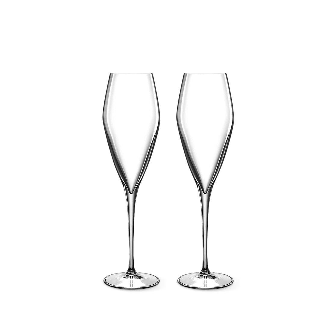 Luigi Bormioli Champagne Flutes Set of 6