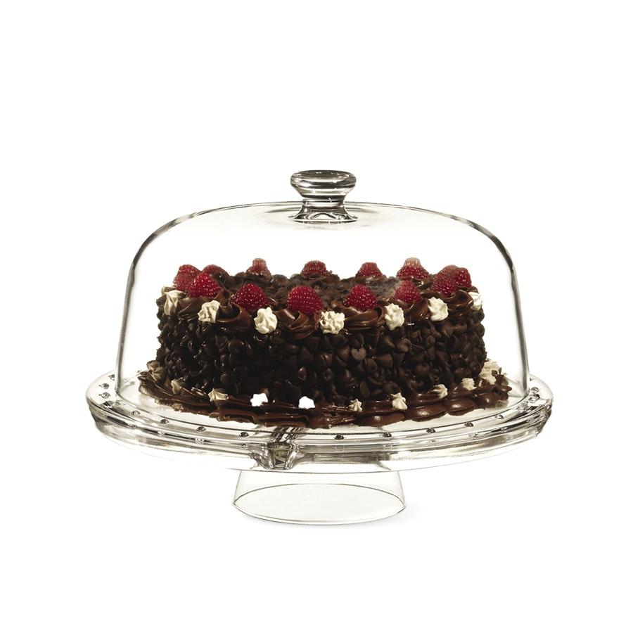 Luigi Bormioli Gallerie Cake Stand & Server