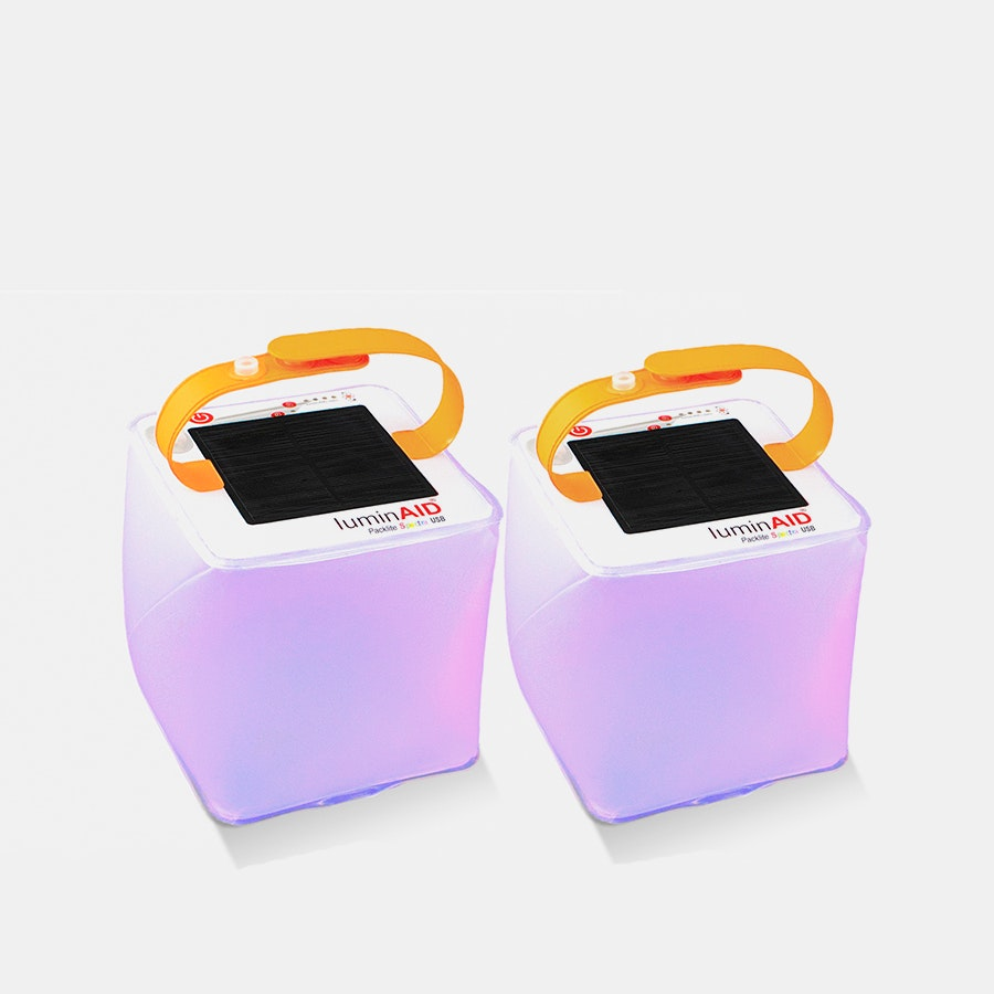 LuminAID USB Spectra Solar Lights (2-Pack)