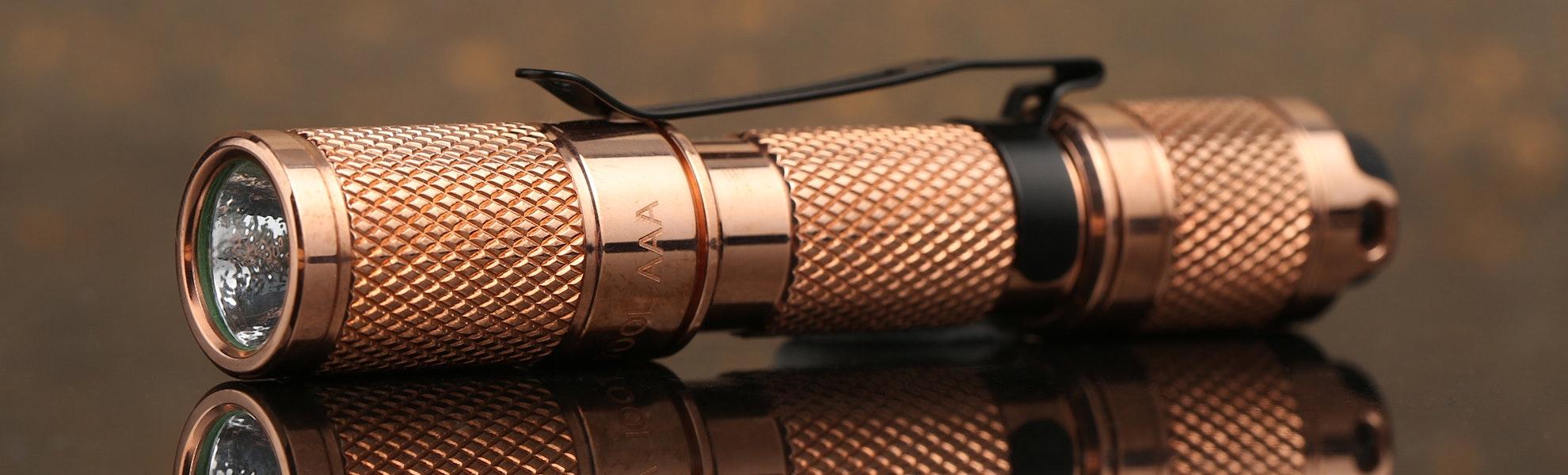 Lumintop Tool Copper AAA Flashlight