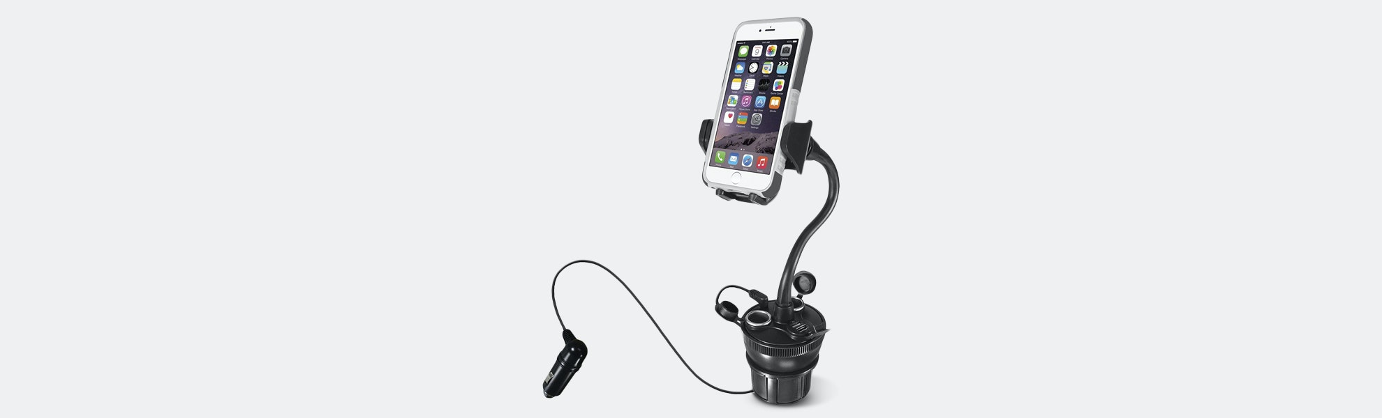 Macally Adjustable Cup-Holder Phone Mount