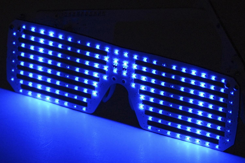 LED Matrix Shades – Blue