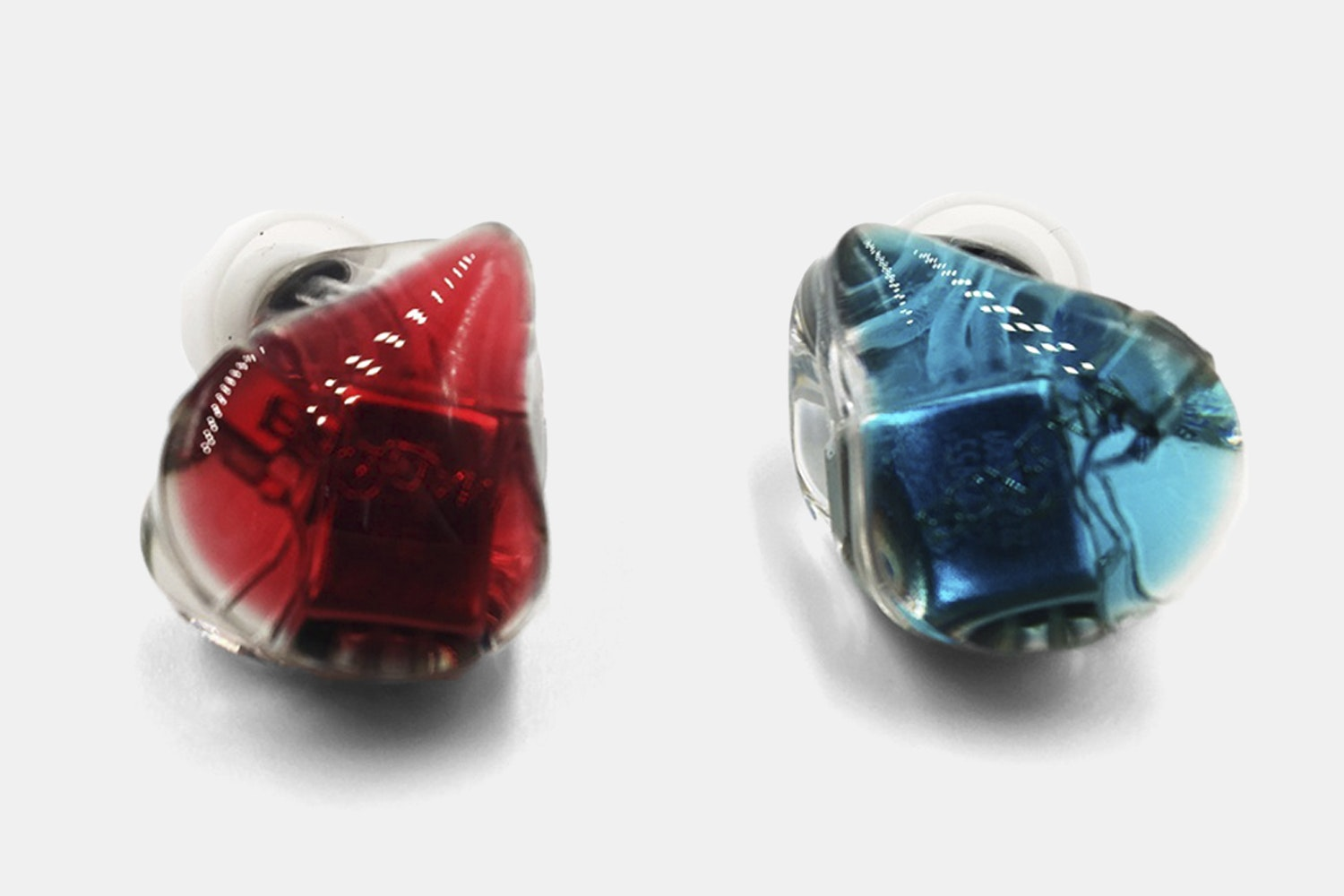 Transparent Red & Blue
