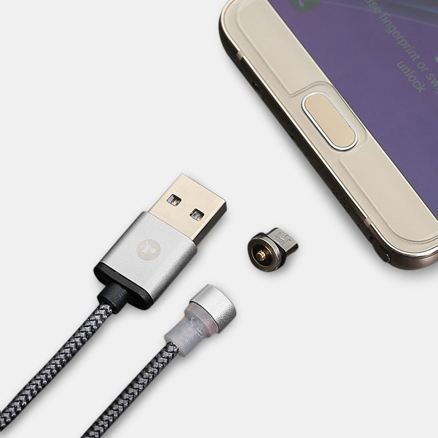 Magnetic Lightning/Micro/USB-C Braided LED Cables
