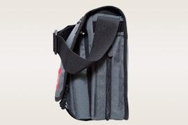 No back zipper or compartments, size medium