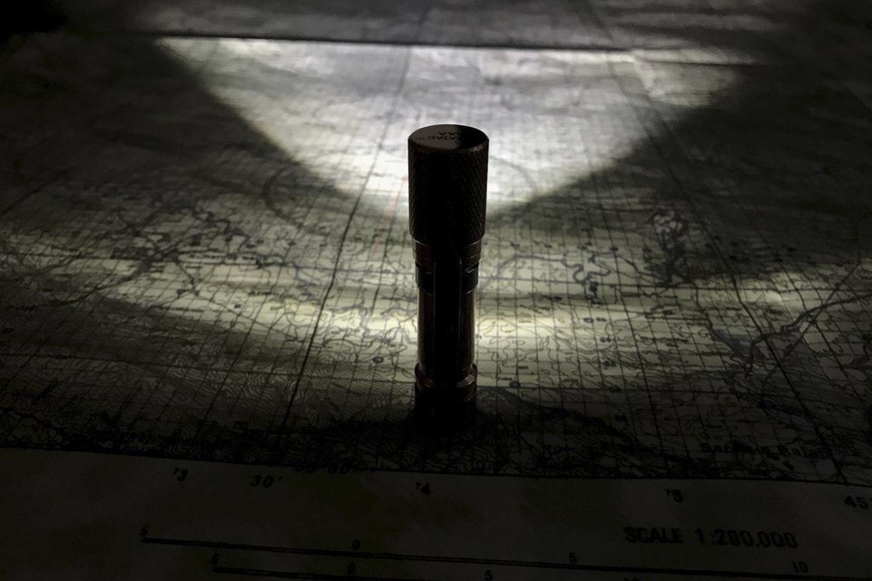 Maratac AAA TPF Flashlight: Copper & Brass