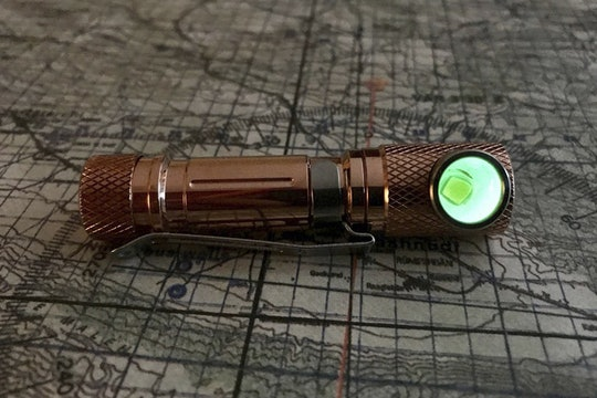 Maratac AAA TPF Flashlight: Copper & Brass