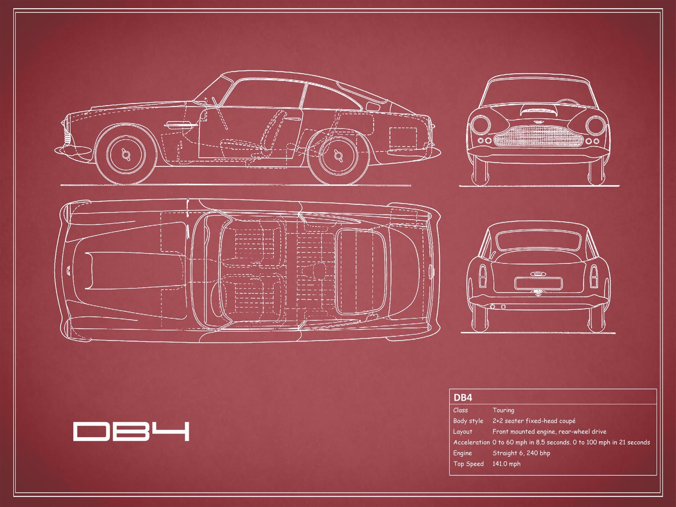 Aston Martin DB4 - Red