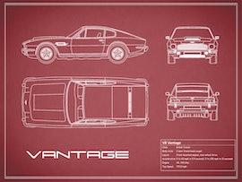 Aston Martin V8 Vantage - Red