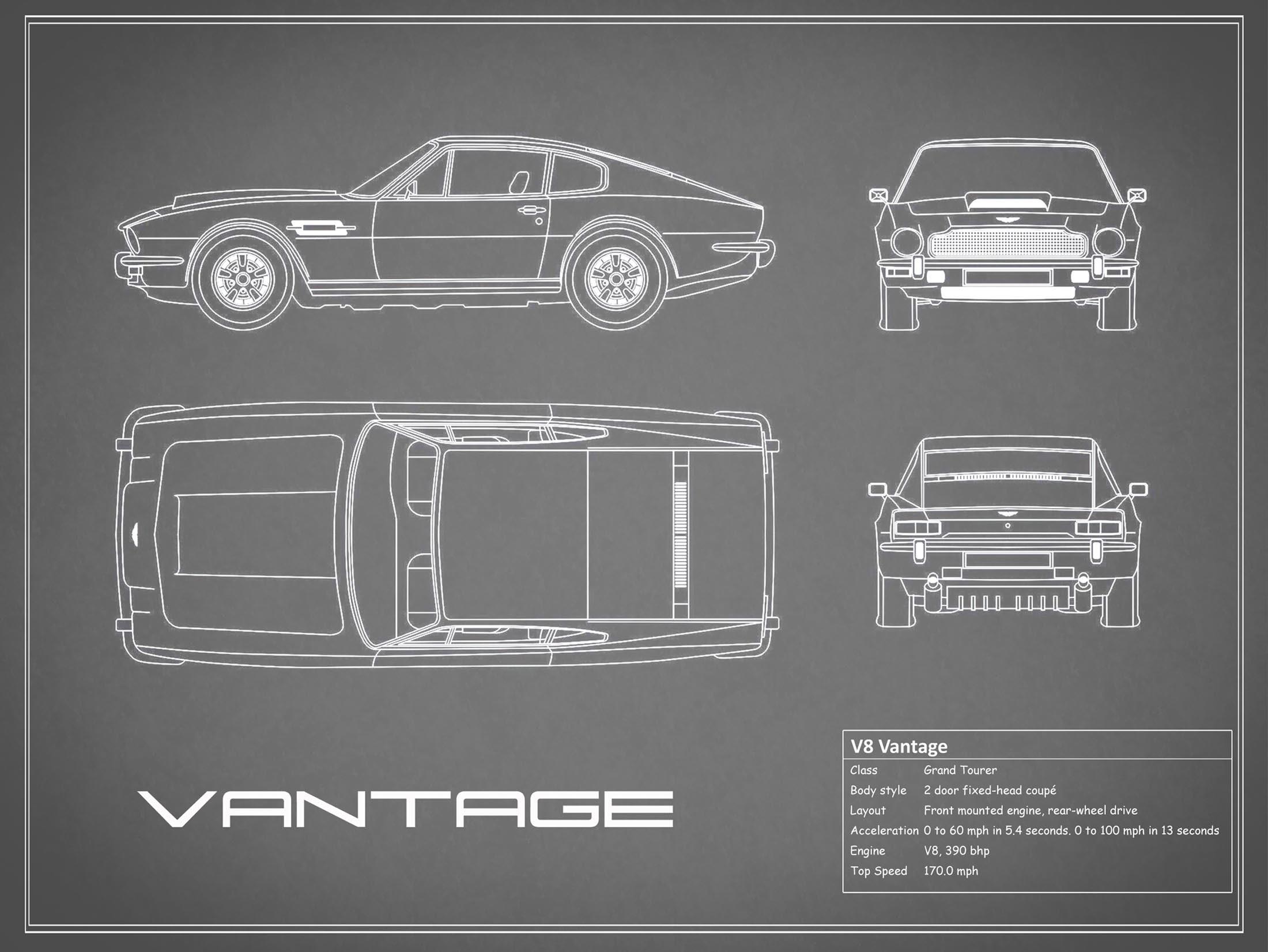 Aston Martin V8 Vantage - Gray