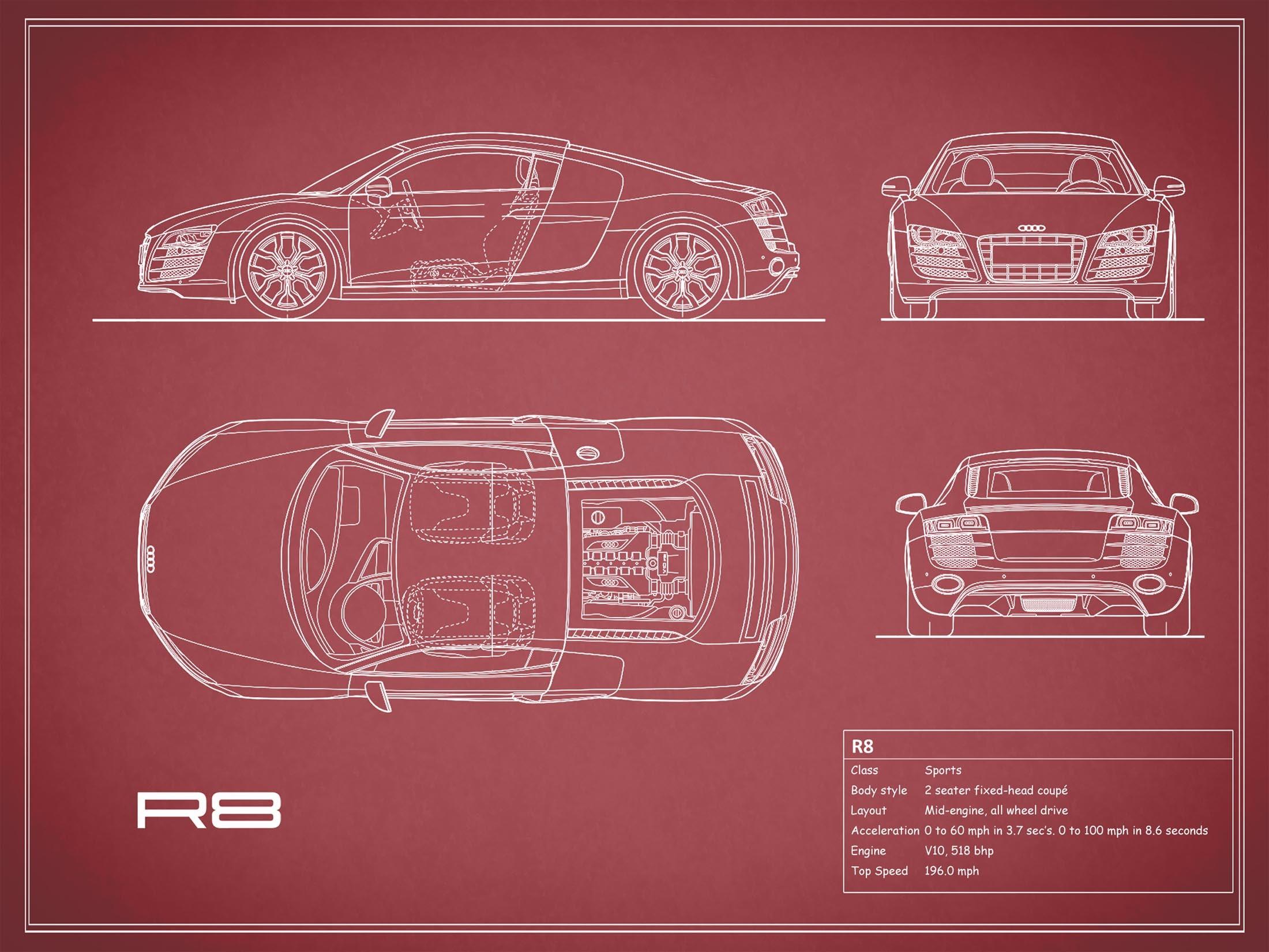 Audi R8 - Red