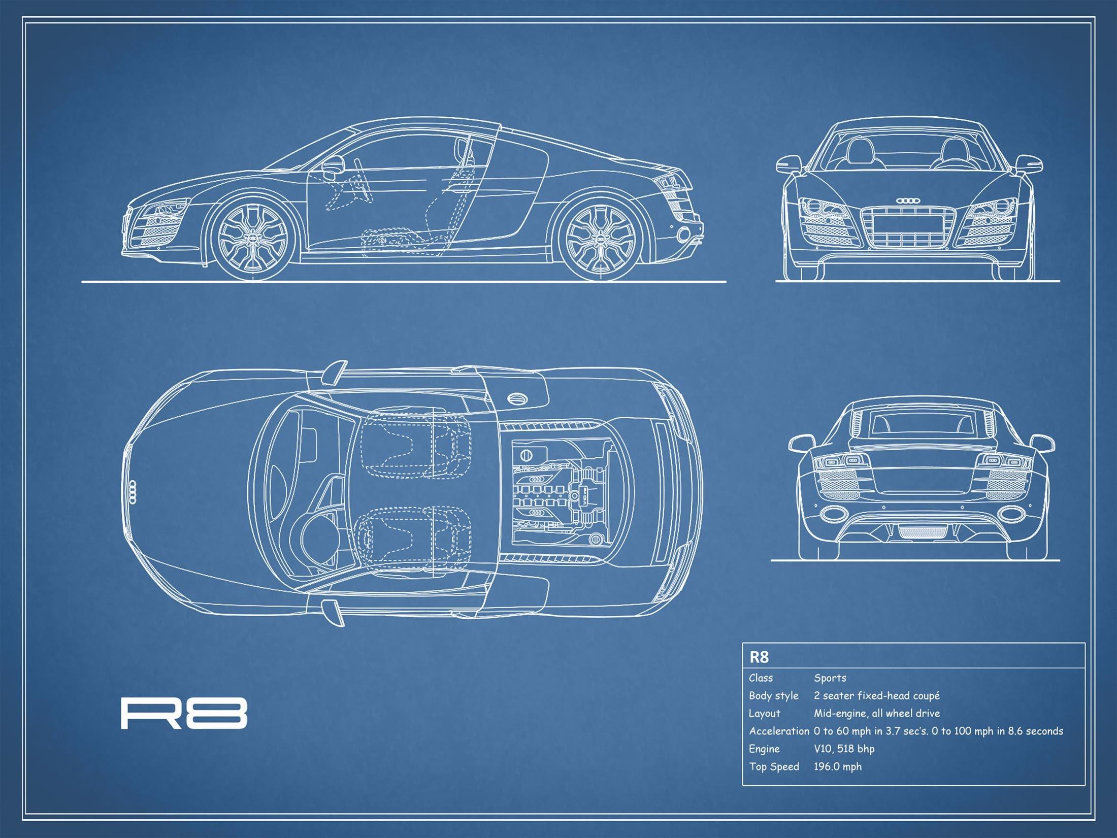Audi R8 - Blue