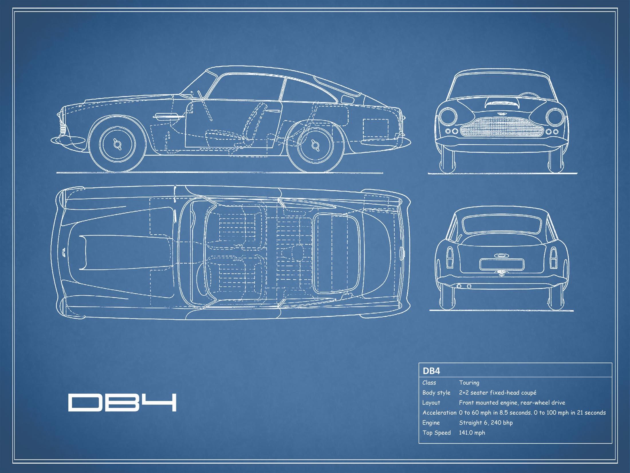 Aston Martin DB4 - Blue