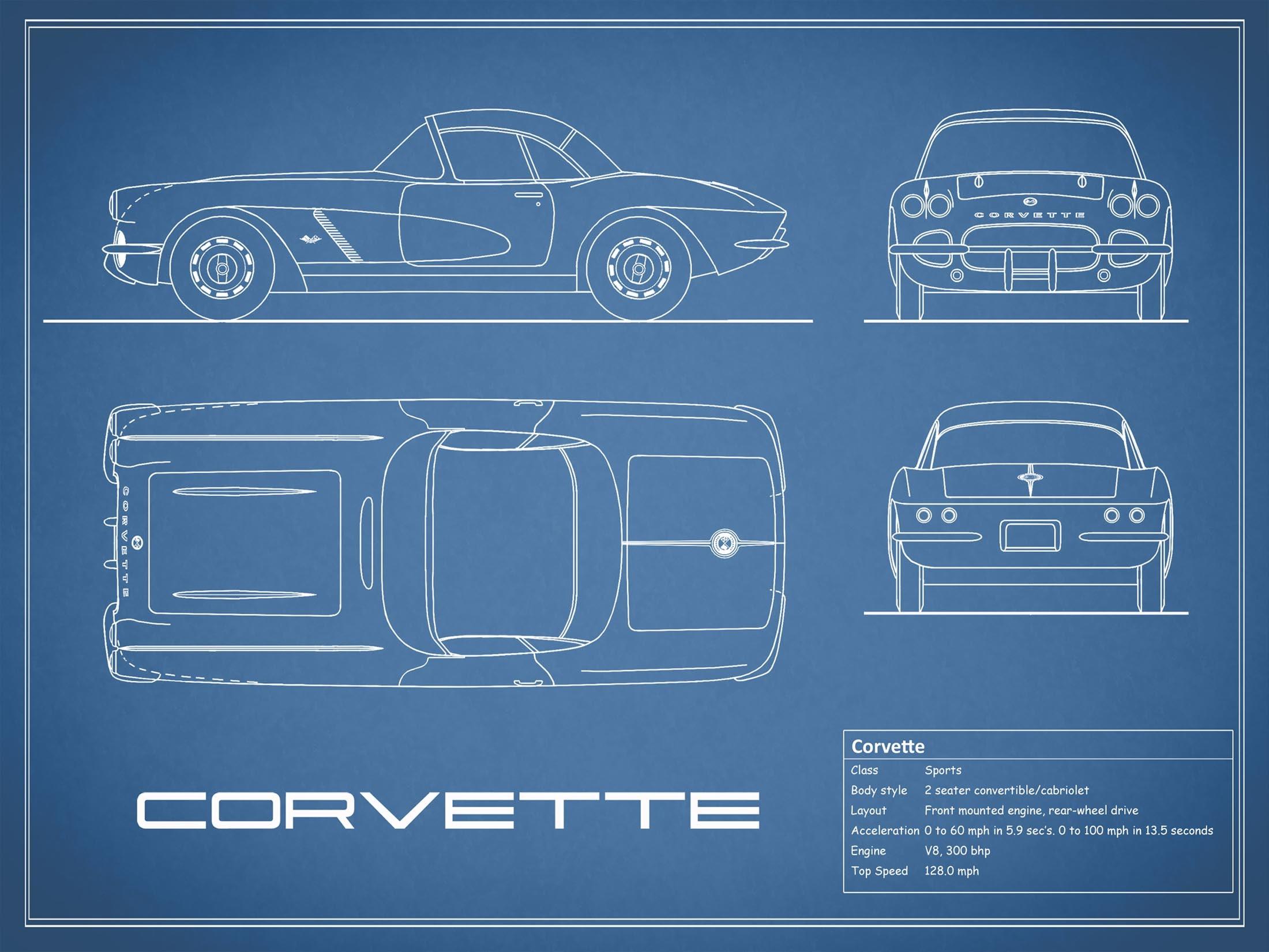 Corvette - Blue