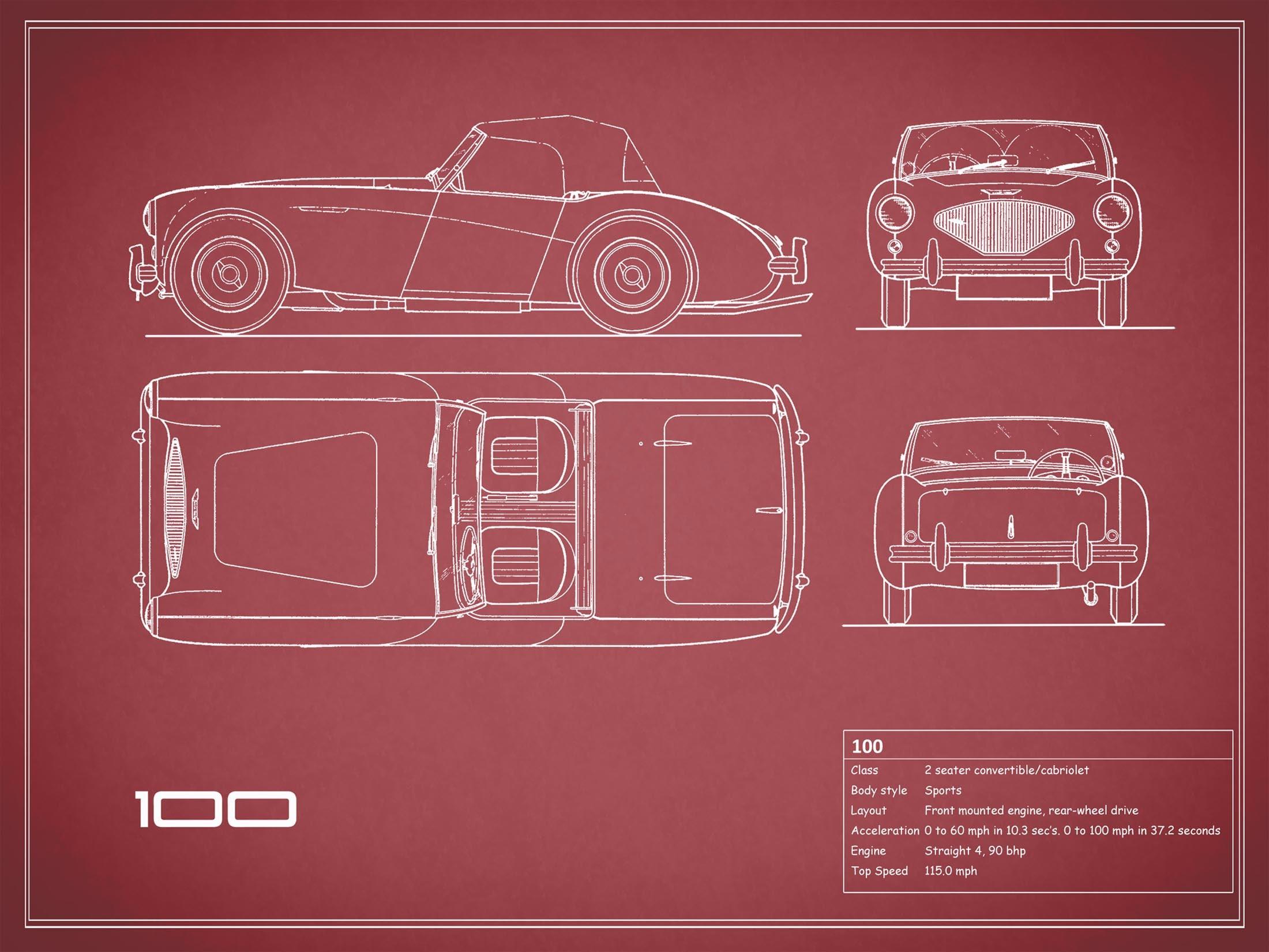 Austin Healey 100 - Red