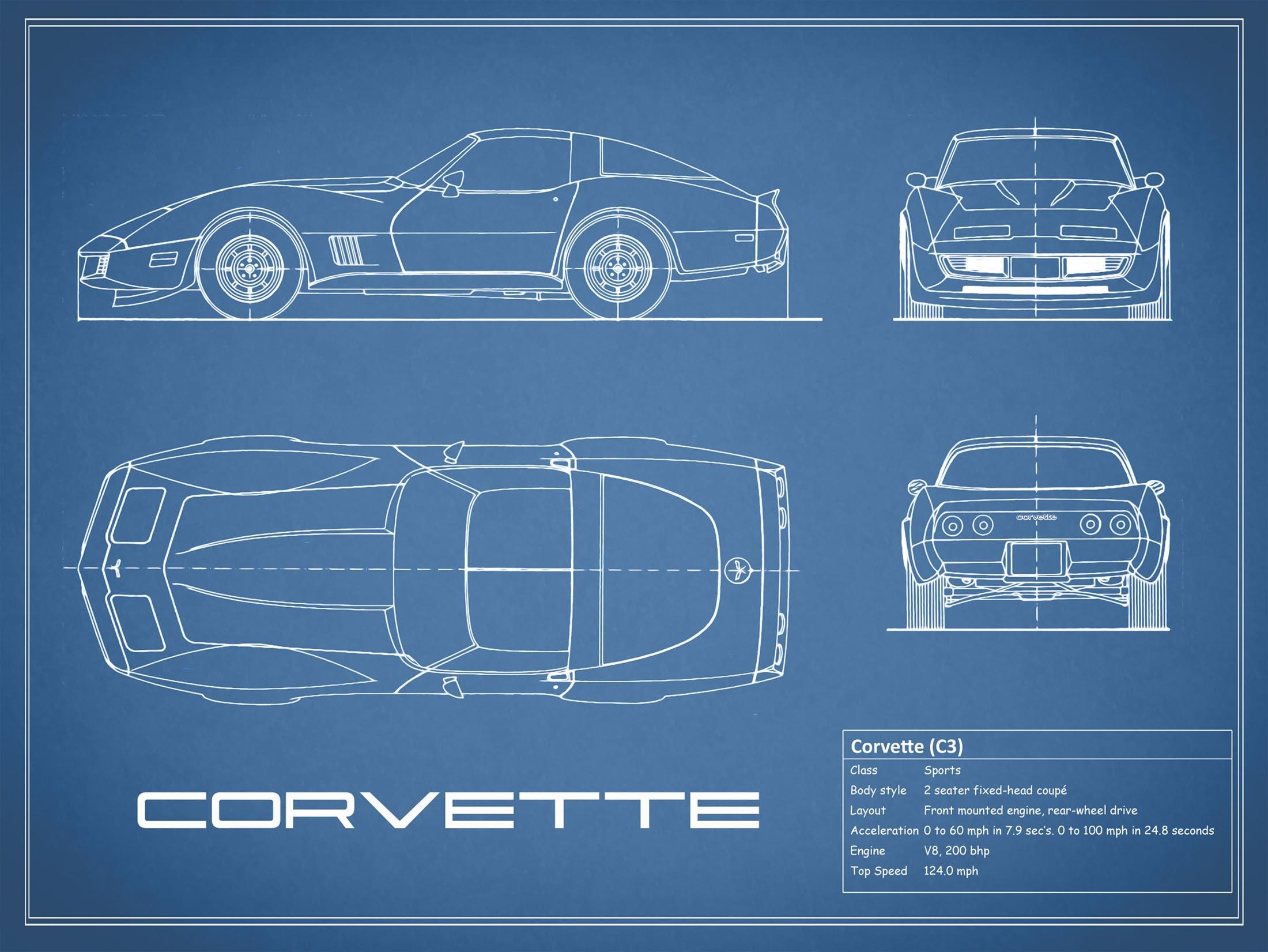 Corvette C3 - Blue