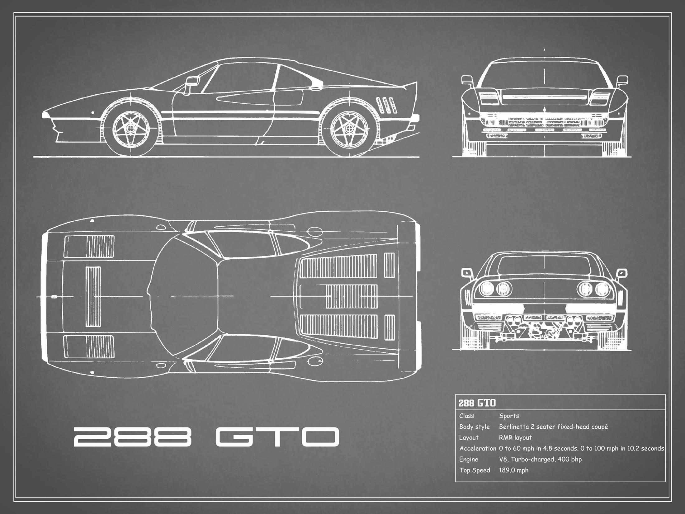 Ferrari 288 GTO - Gray