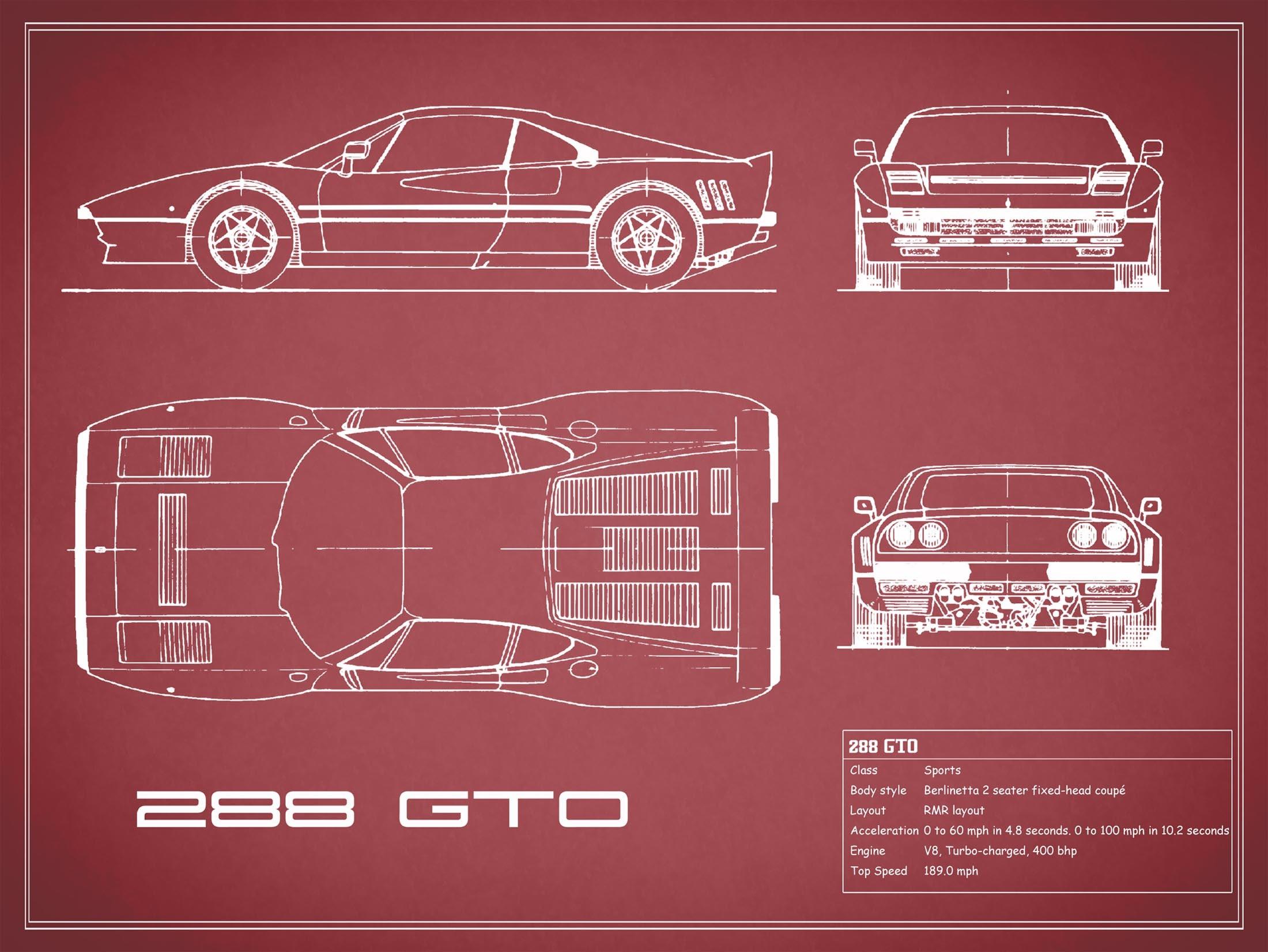 Ferrari 288 GTO - Red