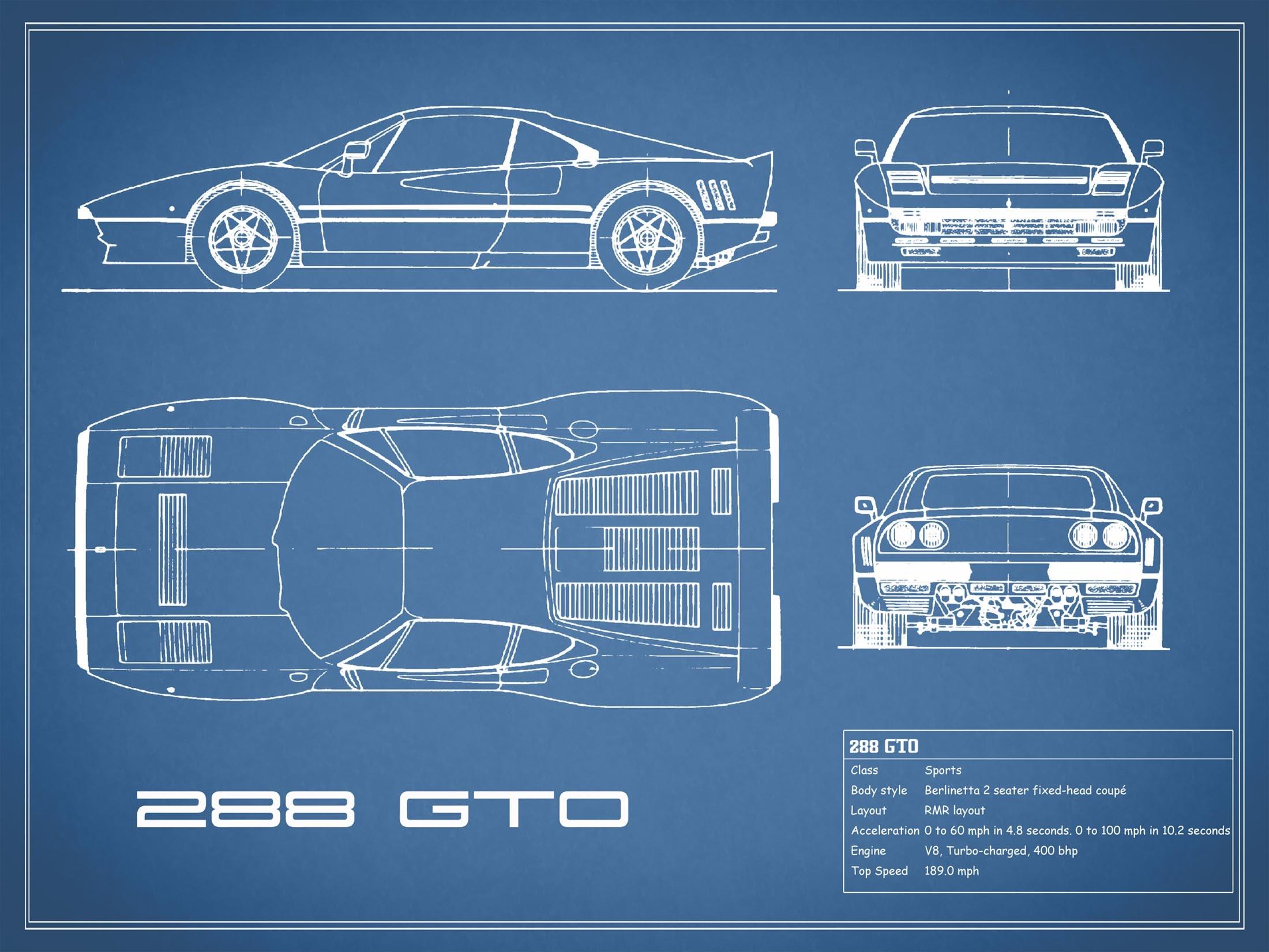 Ferrari 288 GTO - Blue