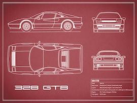 Ferrari 328 GTB - Red