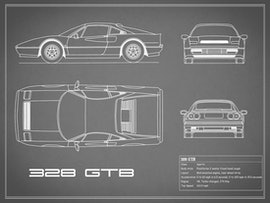 Ferrari 328 GTB - Gray