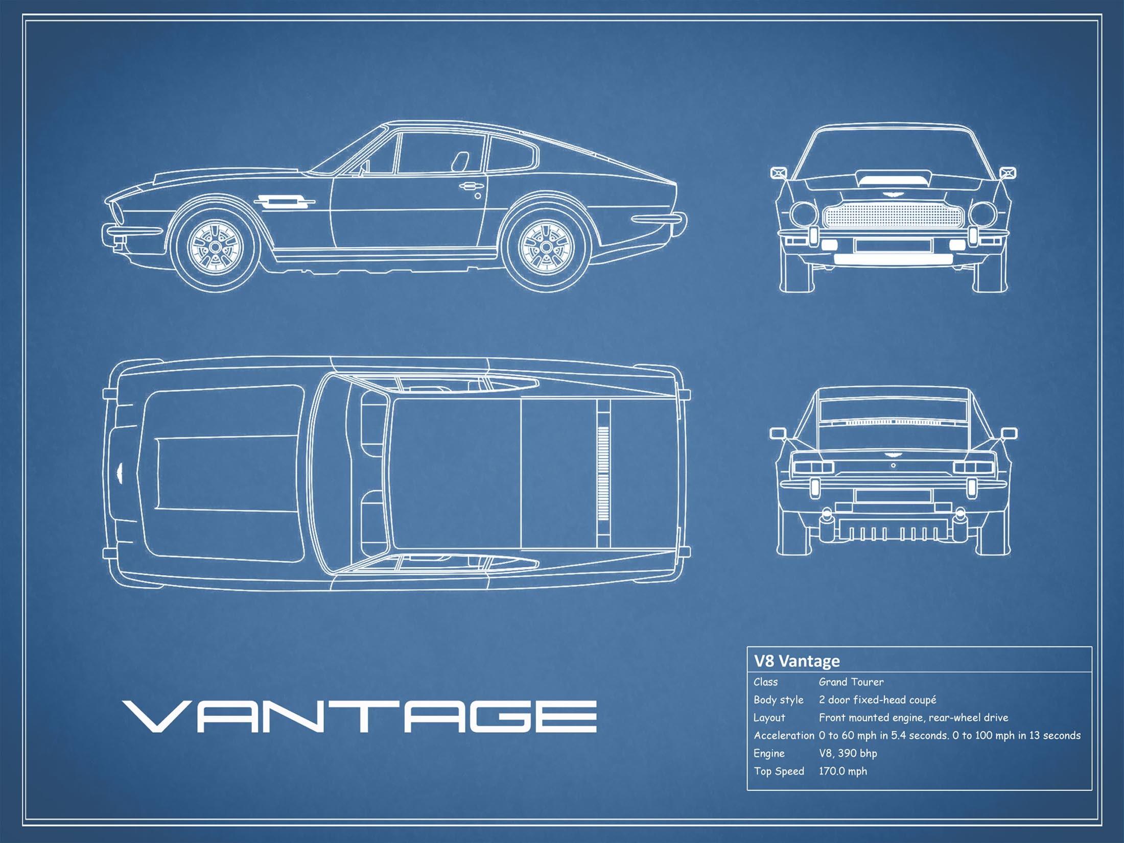Aston Martin V8 Vantage - Blue
