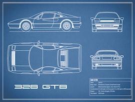 Ferrari 328 GTB - Blue