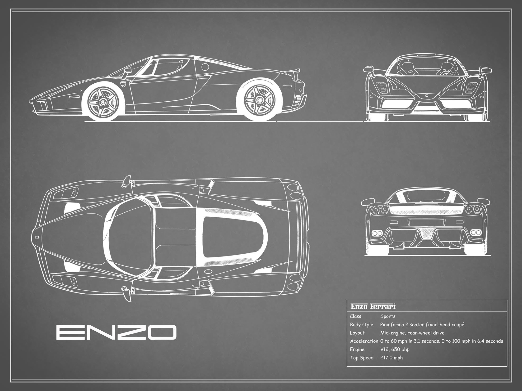 Enzo Ferrari - Gray