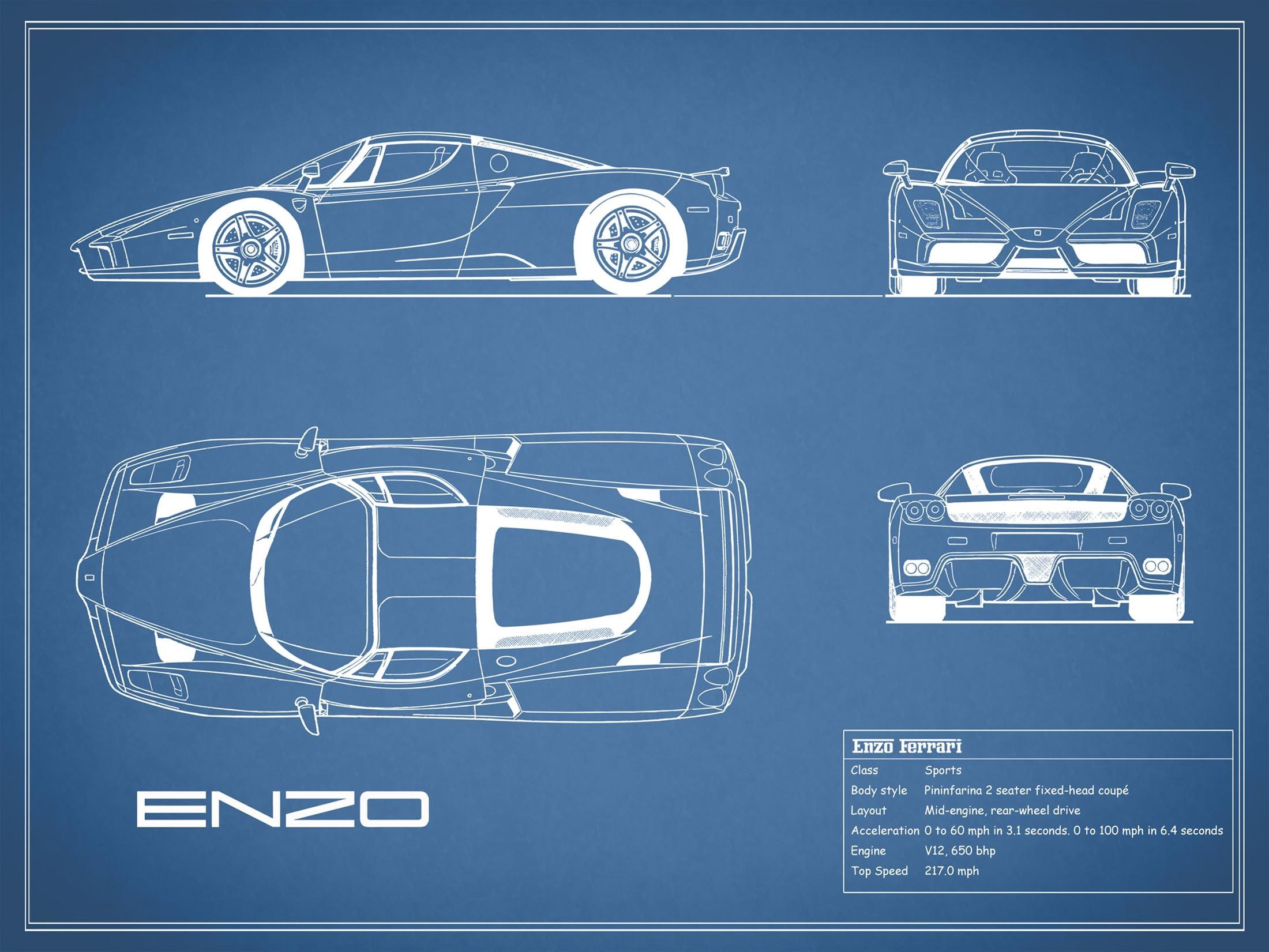 Enzo Ferrari - Blue