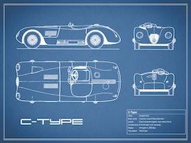 Jaguar C-type - Blue