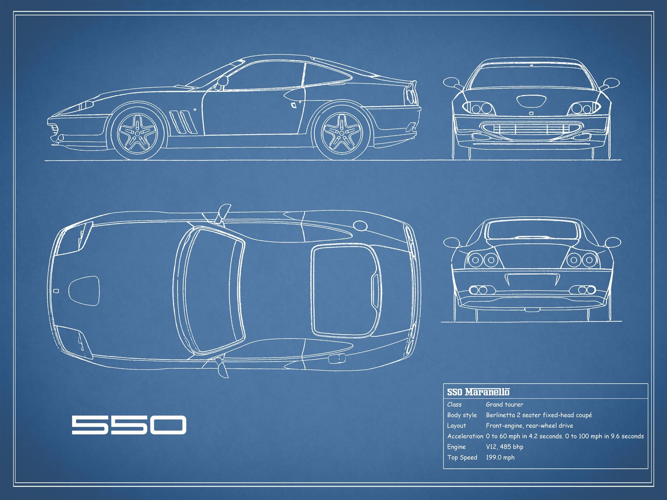 550 Maranello - Blue