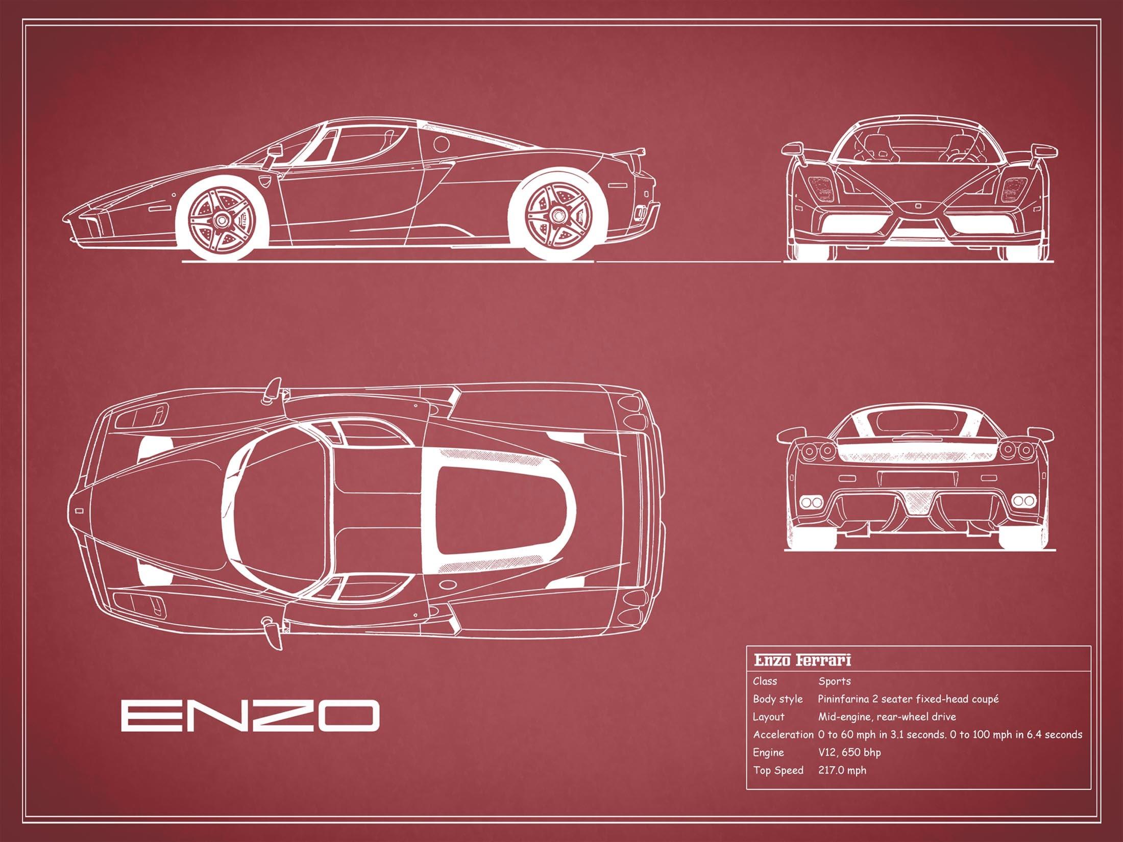 Enzo Ferrari - Red