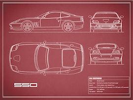 550 Maranello - Red