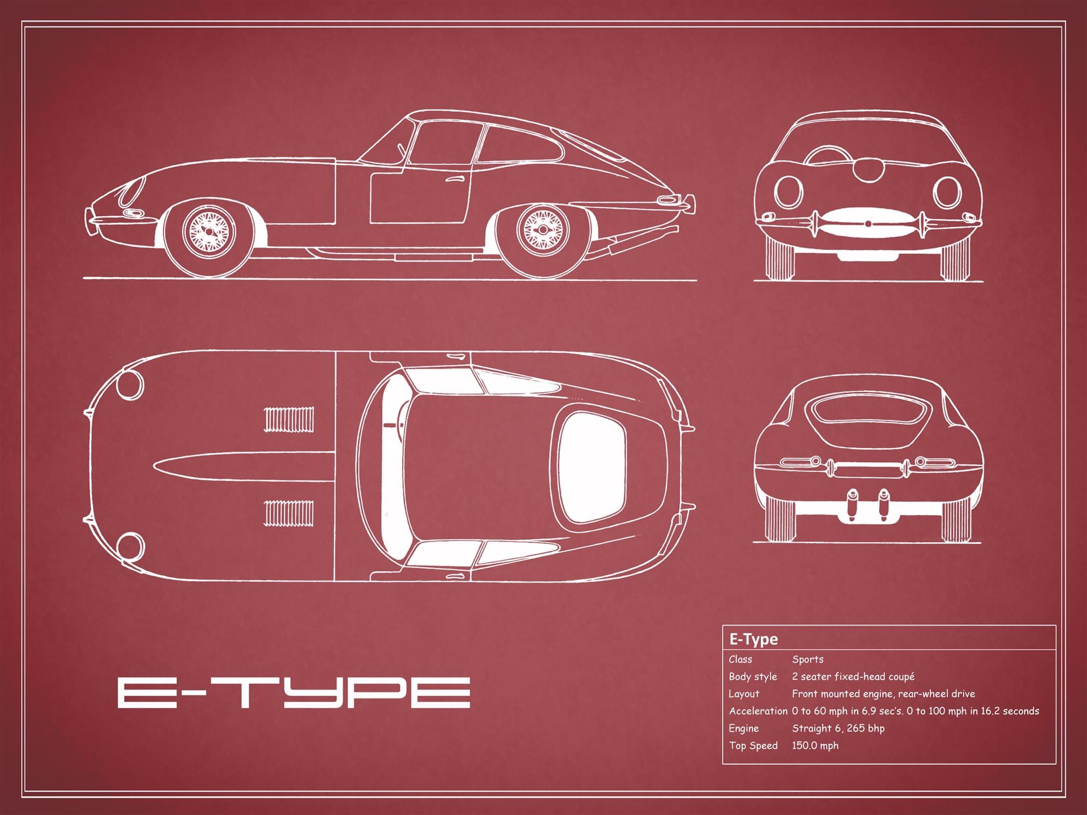 Jaguar E Type - Red