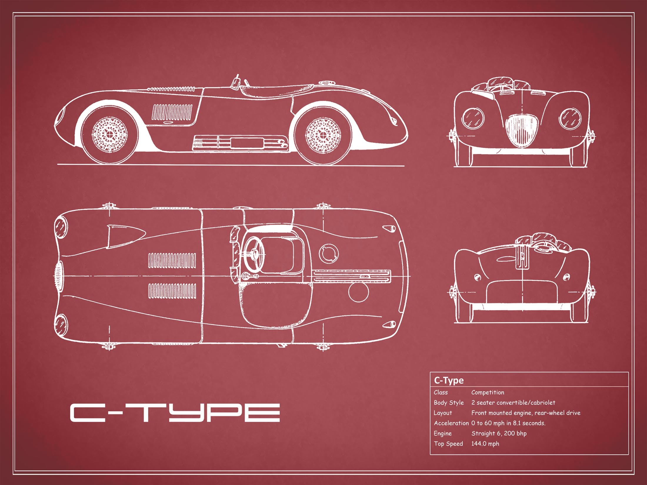 Jaguar C-type - Red