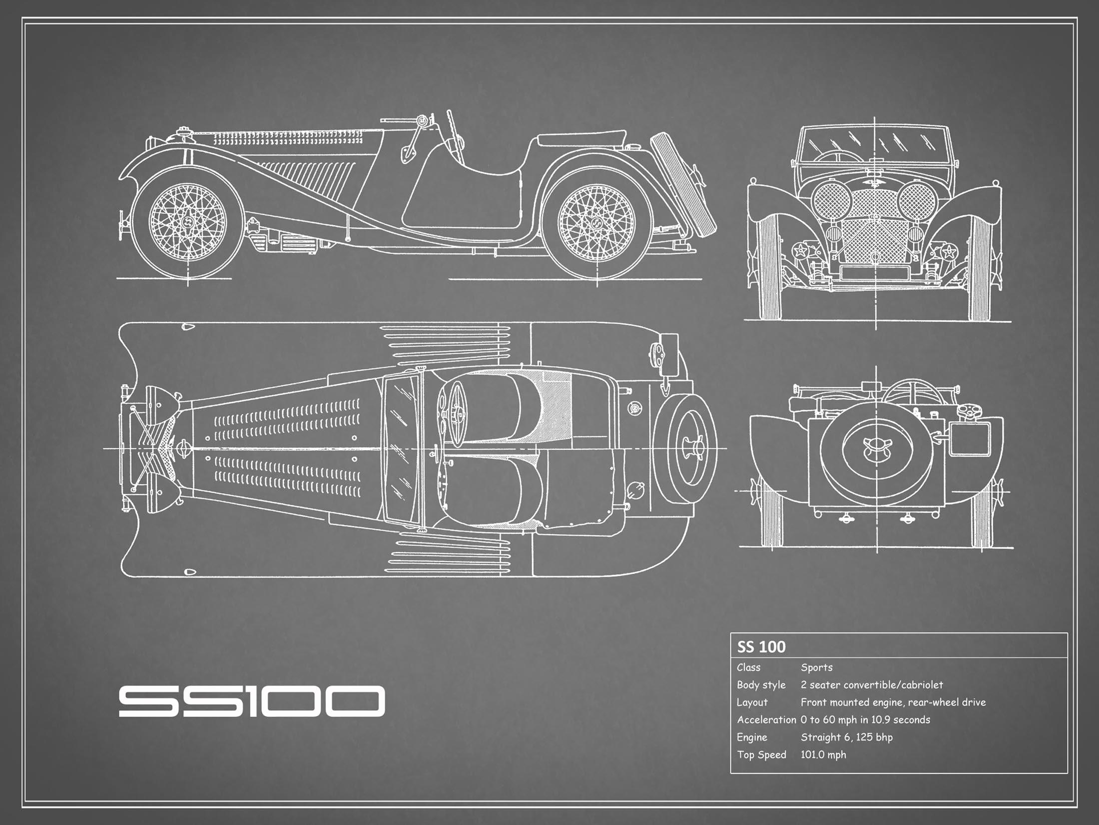 Jaguar SS 100 - Gray